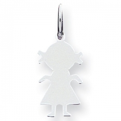 Sterling Silver Engravable Girl