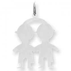 Sterling Silver Engravable Two Boys