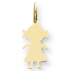 14k Yellow Gold Engravable Girl