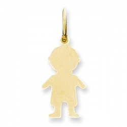 14k Yellow Gold Engravable Boy