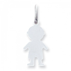 14k White Gold Engravable Child s Boy