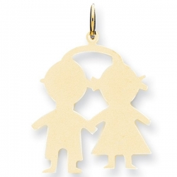 14k Yellow Gold Engravable Boy   Girl