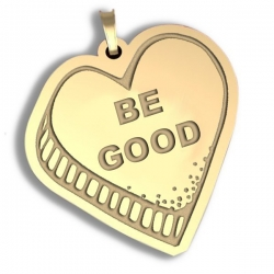 Be Good   Candy Heart Pendant or Charm