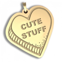 Cute Stuff   Candy Heart Pendant or Charm