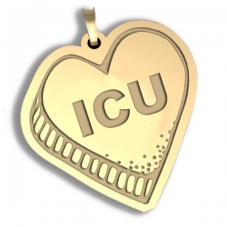 I C U   Candy Heart Pendant or Charm