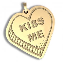 Kiss Me   Candy Heart Pendant or Charm