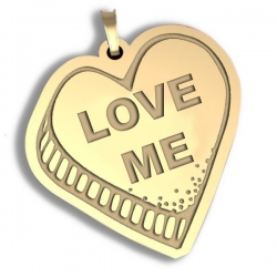 Love Me   Candy Heart Pendant or Charm