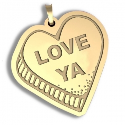 Love Ya   Candy Heart Pendant or Charm
