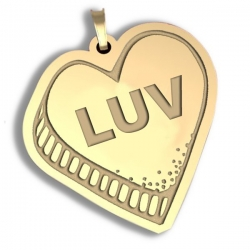Luv   Candy Heart Pendant or Charm