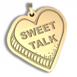 Sweet Talk   Candy Heart Pendant or Charm