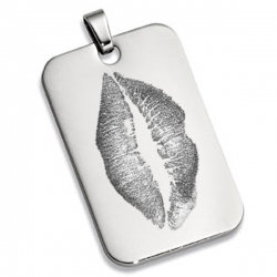 Stainless Steel Lip Print Dog Tag Custom Medal