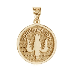 14K Gold Confirmation Holy Spirit Medal