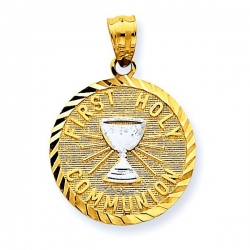 14k Two Tone Communion Chalice Pendant