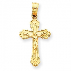 14k Yellow Gold Small Crucifix Pendant
