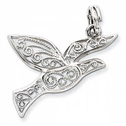 Sterling Silver Filigree Holy Spirit Charm