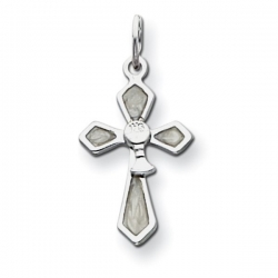 Sterling Silver Chalis with Enameled Cross Holy Communion Charm