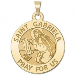 Saint Gabriella Religious Medal   Oval  EXCLUSIVE