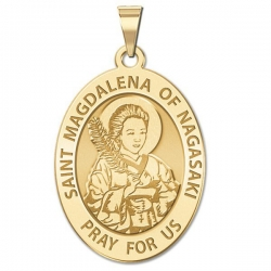 Saint Magdalena of Nagasaki Medal   Oval  EXCLUSIVE