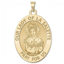 Our Lady of La Salette Religious Medal   Oval  EXCLUSIVE