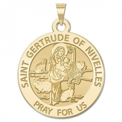 Saint Gertrude of Nivelles Religious Medal     EXCLUSIVE