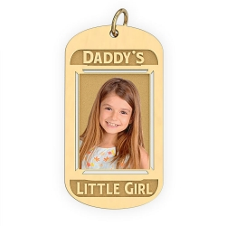 Daddy s Little Girl Dog Tag Pendant