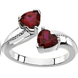 Sterling Silver Birthstone Promise Ring