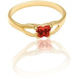 Bfly Ruby  July  Birthstone Ring