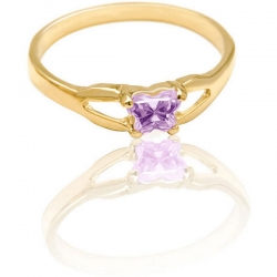 Bfly Alexandrite  June  Birthstone Ring