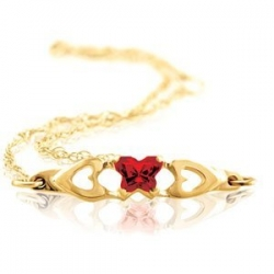 Bfly Ruby  July  Birthstone Bracelet
