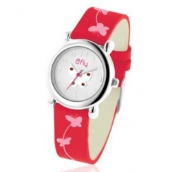 Bfly Ruby  July  Adjustable Children s Birthstone Watch