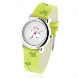 Bfly Peridot  August  Adjustable Children s Birthstone Watch