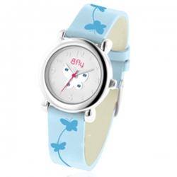 Bfly Aquamarine  March  Adjustable Children s Birthstone Watch