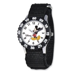 Mickey Mouse 7  Nylon Band With Velcro Closure