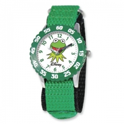 Kermit The Frog 7  Nylon Band With Velcro Closure