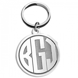 Circle Block Monogram KeyChain
