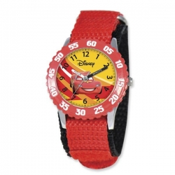 Lightning McQueen 7  Nylon Band With Velcro Closure