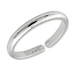 Sterling Silver Plain High Polished Toe Ring