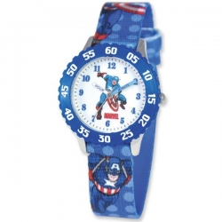 Captain America 8 4  Woven Band With Buckle Closure