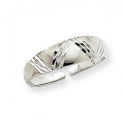 14k White Gold Fancy Toe Ring