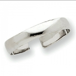14k White Gold Toe Ring