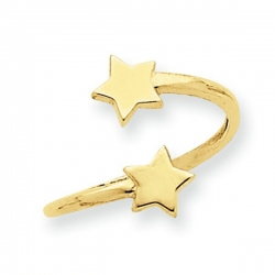14k Yellow Gold Star Toe Ring