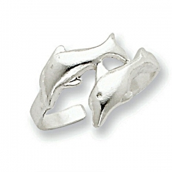 Sterling Silver Dolphin Toe Ring