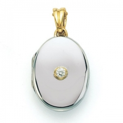 Victor Mayer 18K White Gold Diamond Locket