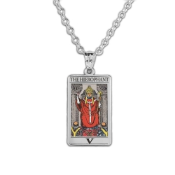 The Hierophant Tarot Card Medal