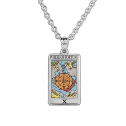 Wheel of Fortune Tarot Card Medal