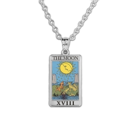 The Moon Tarot Card Medal