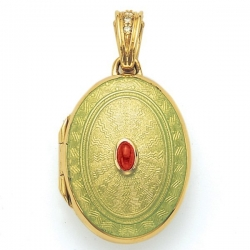 Victor Mayer 18K Gold Locket With Ruby