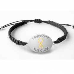 Sterling Silver   I Support The Cure  Childhood Cancer Bracelet