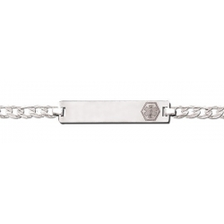Sterling Silver Child s Medical ID Bracelet w  Curb Chain