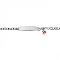 Stainless Steel Child s Bracelet W  Charm